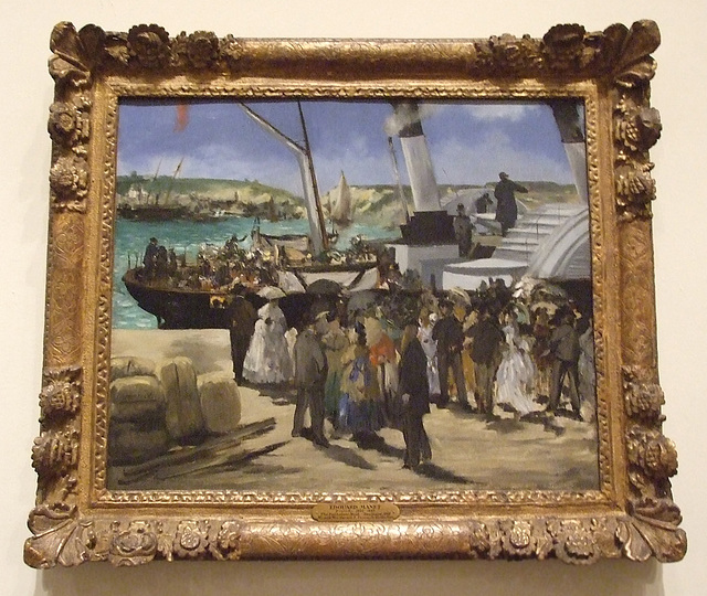 The Departure of the Folkestone Boat by Manet in the Philadelphia Museum of Art, August 2009