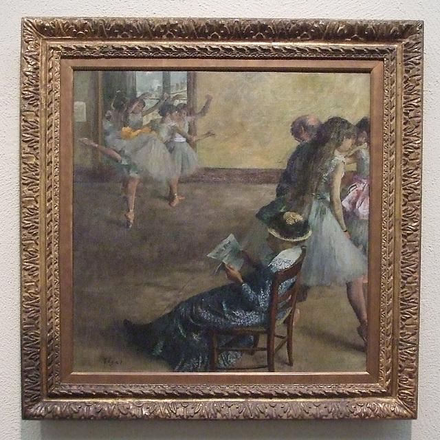 The Ballet Class by Degas in the Philadelphia Museum of Art, January 2012