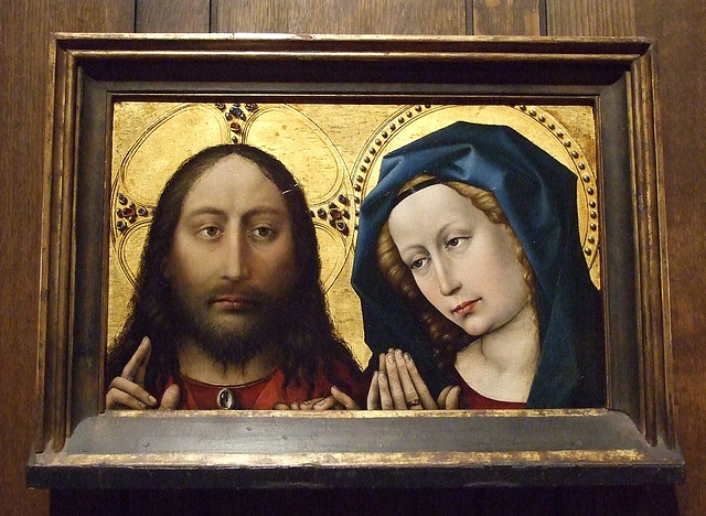 Christ and the Virgin by Robert Campin in the Philadelphia Museum of Art, January 2012