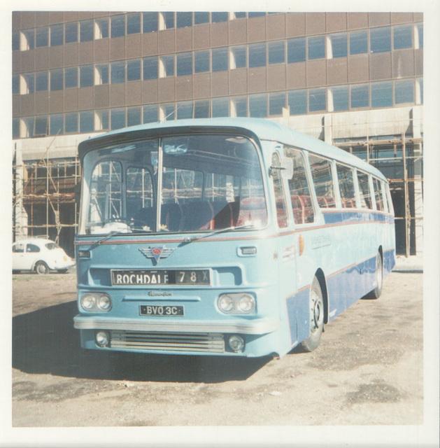 240/01 Premier Travel Services BVO 3C in Rochdale - August 1974