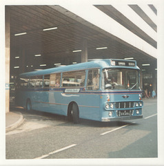 210 Premier Travel Services OVE 233J in Manchester - Aug 1973