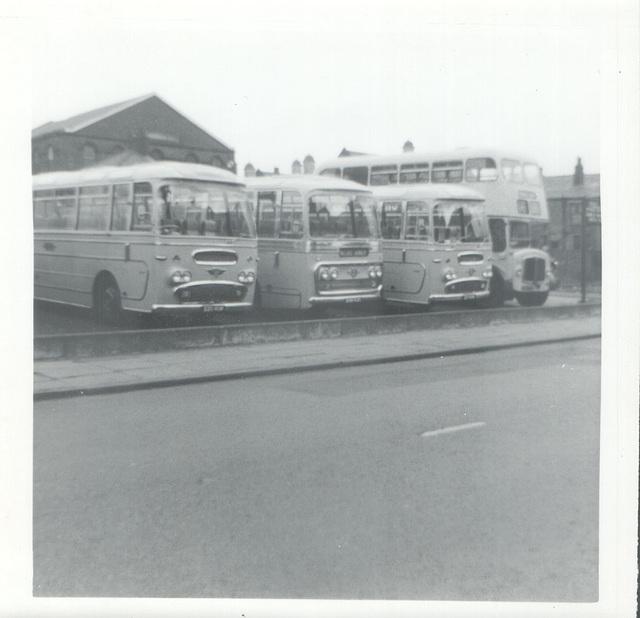 Wallace Arnold (Devon) Ltd coaches at Rochdale