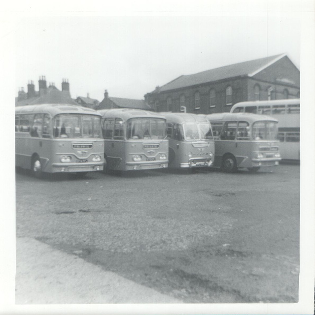 Greenslades Tours line up at Rochdale