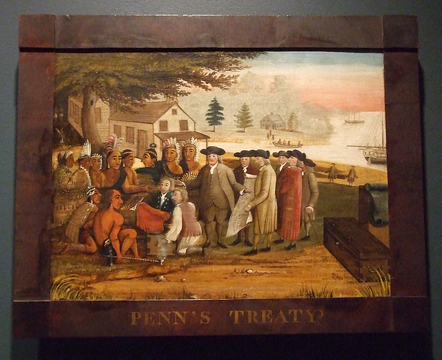 Penn's Treaty with the Indians by Edward Hicks in the Philadelphia Museum of Art, August 2009