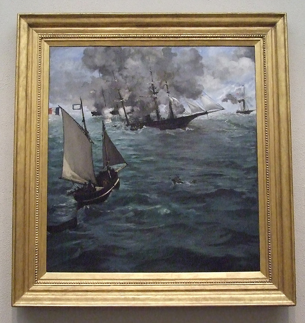 The Battle of the USS Kearsage and the CSS Alabama by Manet in the Philadelphia Museum of Art, August 2009
