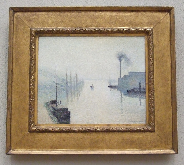 L'Ile Lacroix, Rouen by Pissarro in the Philadelphia Museum of Art, January 2012