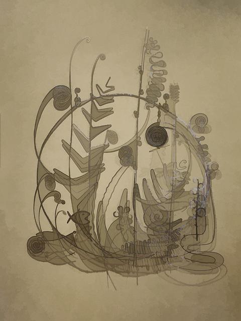 """variation on Calder's """"Silver Bed Head"""""""