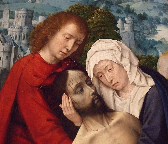 Detail of the Lamentation by Gerard David in the Philadelphia Museum of Art, August 2009