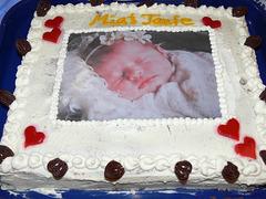 Die Torte zur Taufe