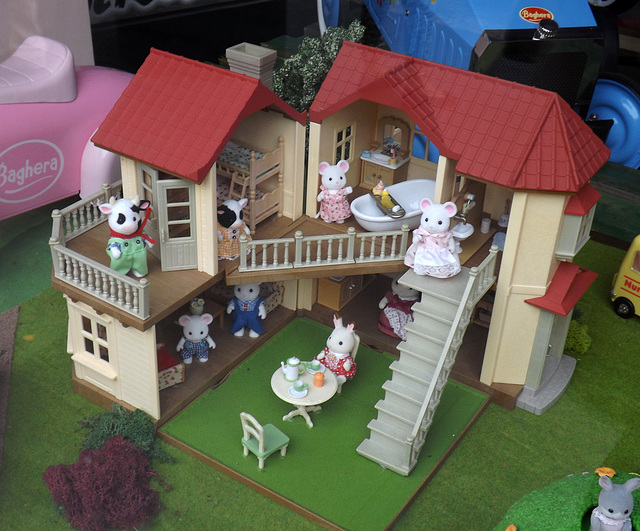 Sylvanian Families Display in Little Big Town Toy Store in Rome, June 2014