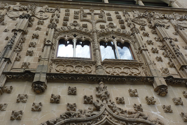 Baeza,  detalle de la fachada del palacio de Jabalquinto