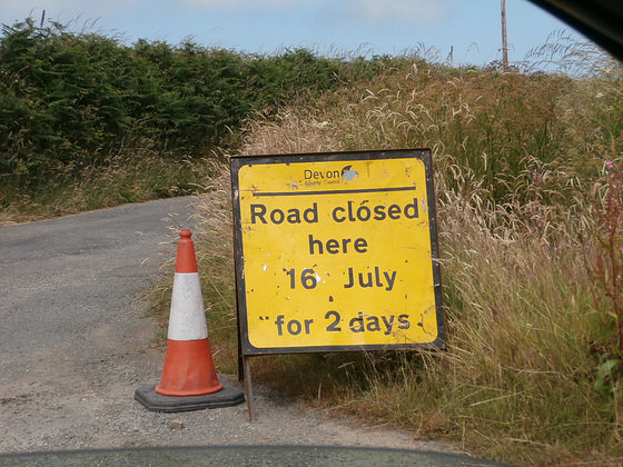 Another of those diversion signs. Grrr