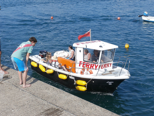 The ferry which takes people across the river to Instow