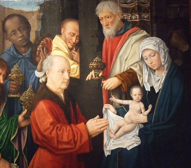 Detail of Epiphany by the Workshop of Gerard David in the Princeton University Art Museum, July 2011