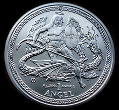 Isle of Man Silver Angel coin.