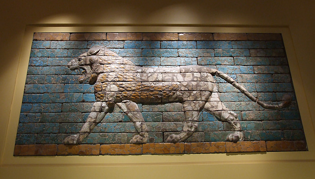 Babylonian Lion from the Processional Way in the Boston Museum of Fine Arts,  June 2010