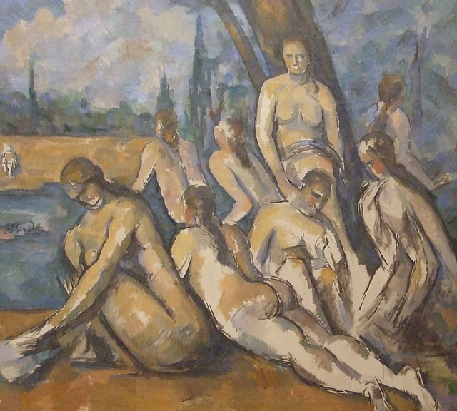 Detail of The Large Bathers by Cezanne in the Philadelphia Museum of Art, January 2012