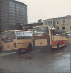 Yelloway coaches at Rochdale - 27 November 1983