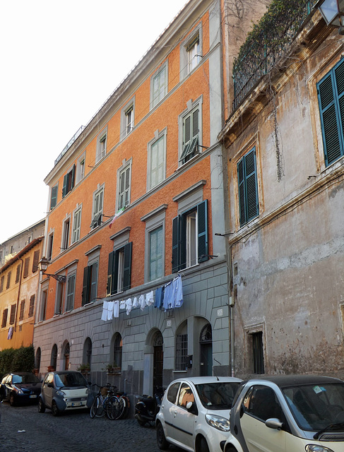 Street in Trastevere with Laundry, June 2012