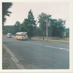 Yelloway coaches near Bradford - 17 June 1973