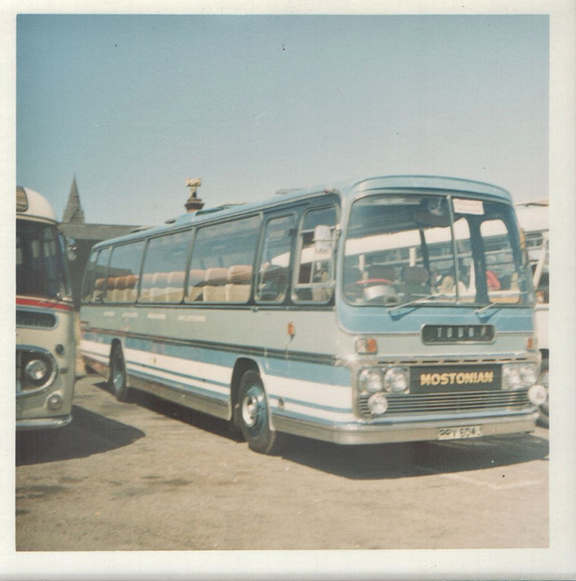 Mostonian Coaches RRV 604J in Rhyl - July 1973
