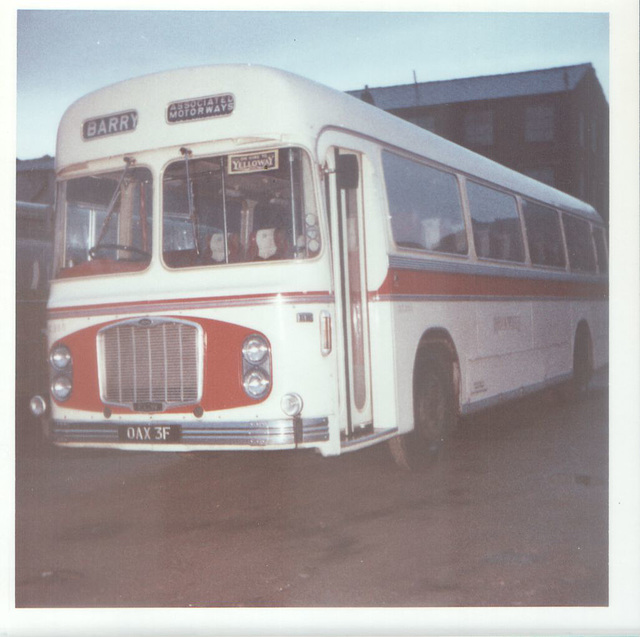 Red and White RC368 (OAX 3F) at Rochdale - Sept 1972