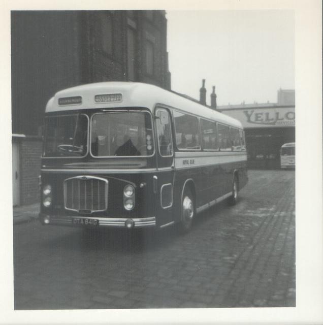 Royal Blue (SNOC) 2381  (OTA 641G)  leaving Rochdale -19 Sep 1970