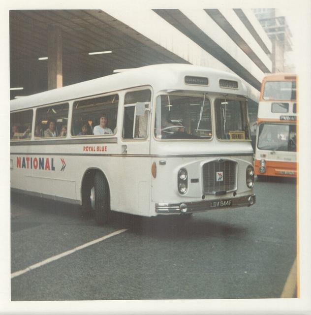 Royal Blue (WNOC) 2372 (LDV 844F) in Manchester - Aug 1973