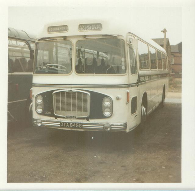 Royal Blue (WNOC) 2385  (OTA 645G) at Rochdale - Aug 1972