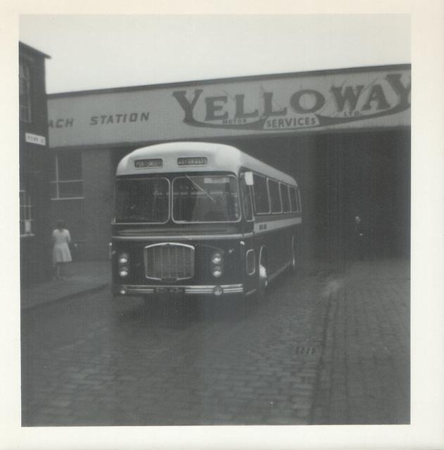 Royal Blue (WNOC) 2387  (RDV 413H)  leaving Rochdale - 19 Sep 1970