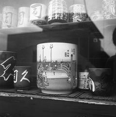 Teacups at a sushi restaurant