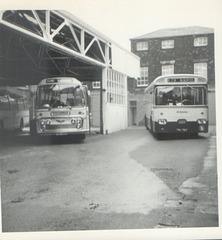 Yelloway PDK 461H and Ribble TRN 767 - 8 May 1972