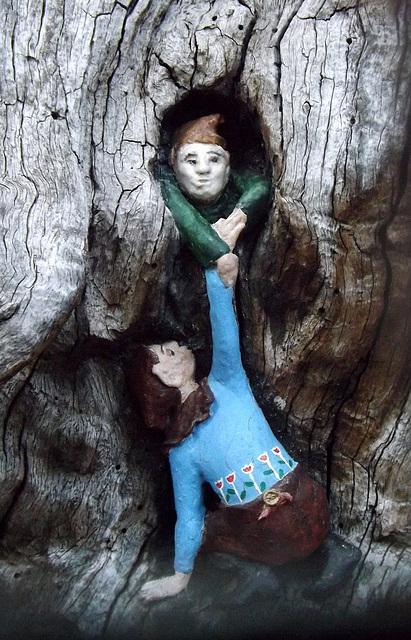 Detail of The Elfin Oak in Kensington Gardens, May 2014