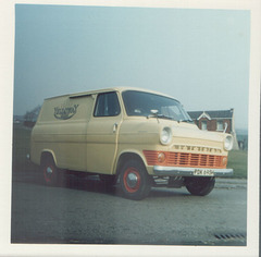 Yelloway Ford Transit van PDK 695H - April 1974