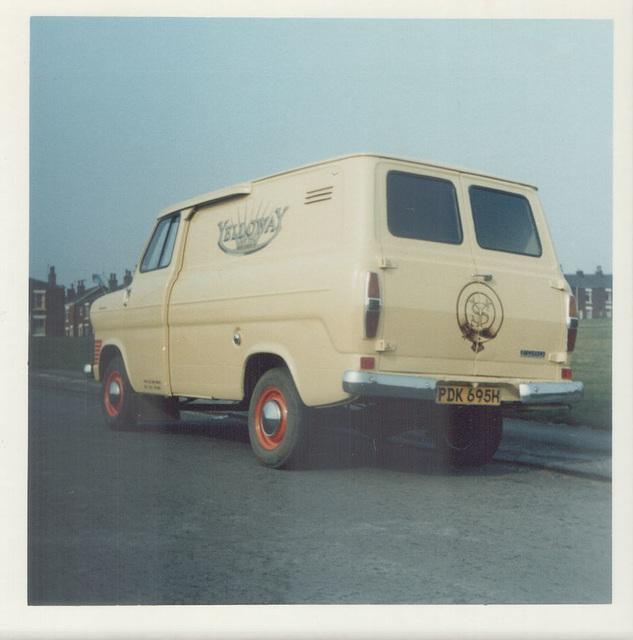 Yelloway Ford Transit van PDK 695H - April 1974
