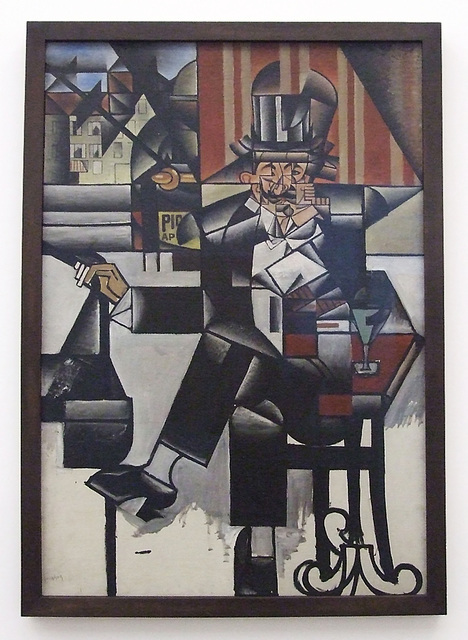 Man in a Cafe by Juan Gris in the Philadelphia Museum of Art, January 2012