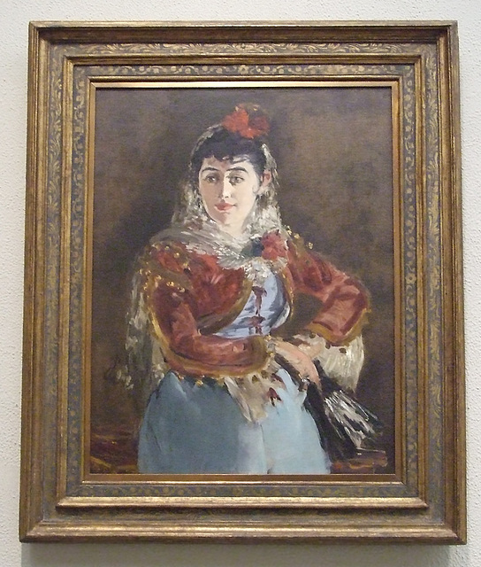 Portrait of Emilie Ambre as Carmen by Manet in the Philadelphia Museum of Art, January 2012