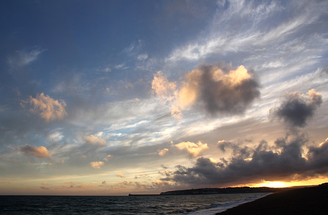 Sunset over Newhaven - Seaford Bay - 27.6.2014 b