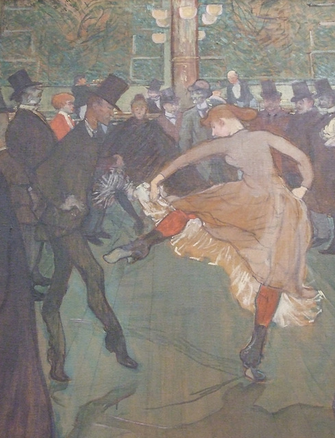 Detail of At the Moulin Rouge- The Dance by Toulouse-Lautrec in the Philadelphia Museum of Art, August 2009