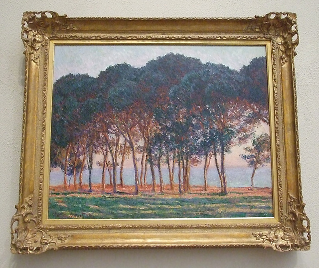 Under the Pines, Evening by Monet in the Philadelphia Museum of Art, January 2012