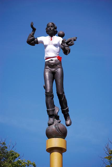Statue »Unabhängigkeit« in Winnyzja