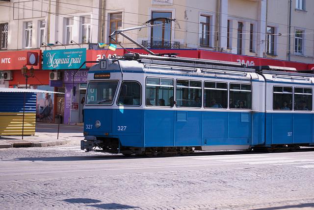 die Straßenbahn Mirage Be 4/6 in Winnyzja