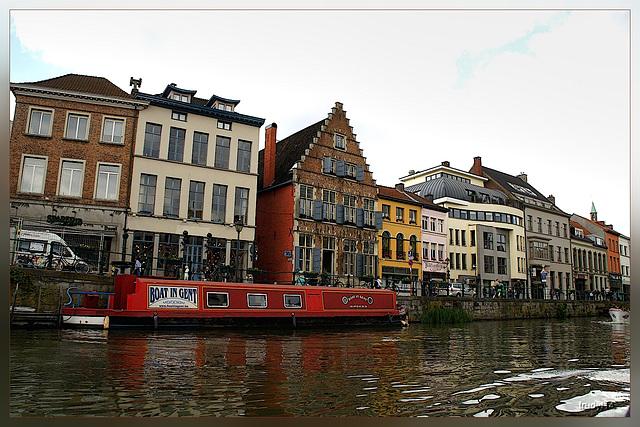 boat in Gent