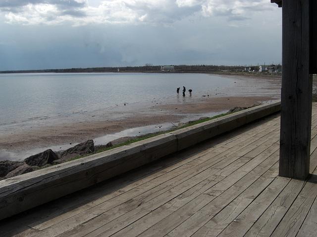 Boardwalk and bay, Summerside, Prince Edward Island, Canada