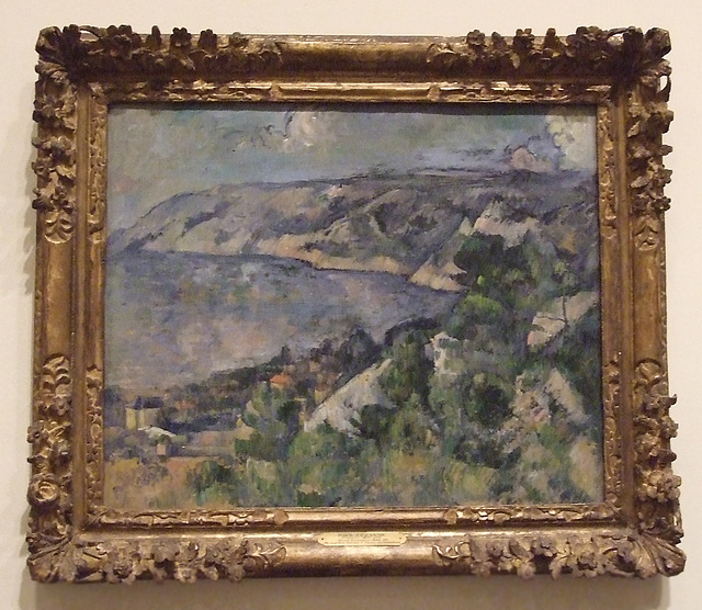 Bay of L'Estaque by Cezanne in the Philadelphia Museum of Art, August 2009
