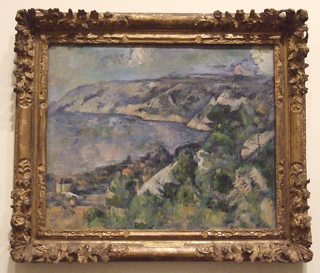 Bay of L'Estaque by Cezanne in the Philadelphia Museum of Art, January 2012