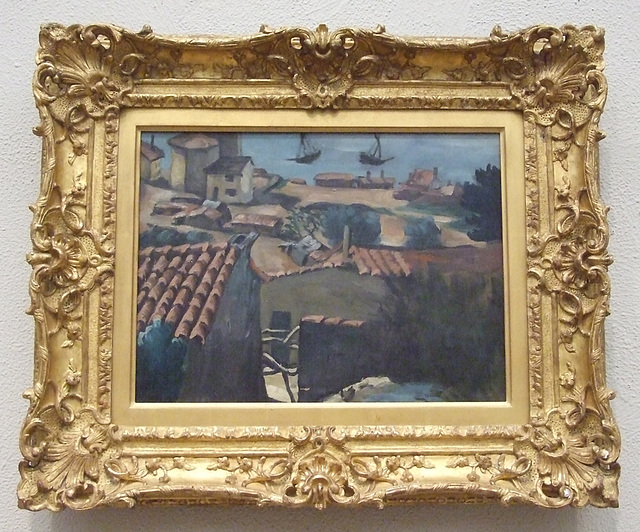 Fisherman's Village at L'Estaque by Cezanne in the Philadelphia Museum of Art, January 2012