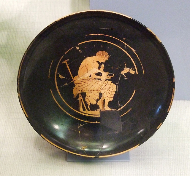 Fragmentary Red-Figure Kylix Attributed to Onesimos in the Princeton University Art Museum, July 2011