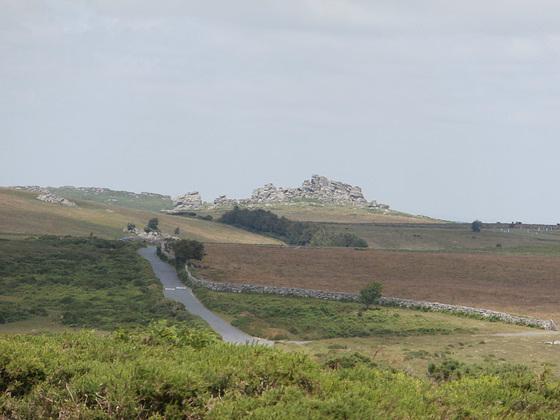 One of the roads across Dartmoor