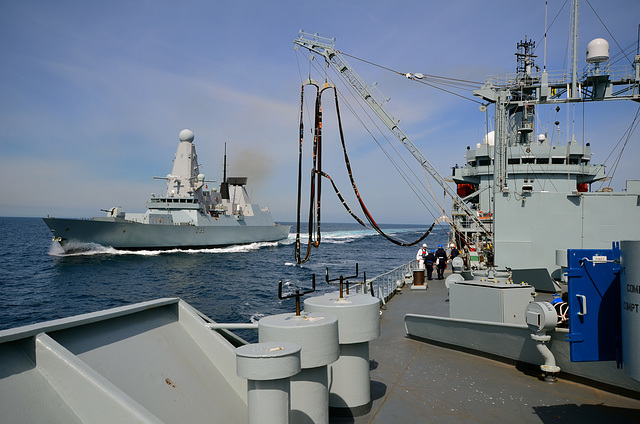 HMS DRAGON and RFA GOLD ROVER